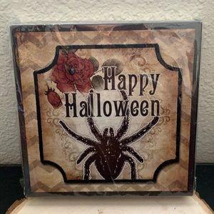 Happy Halloween Spider Plaque Art Decor